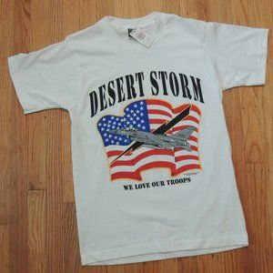 Desert Storm Vintage T Shirt 91 Flag Screen Stars